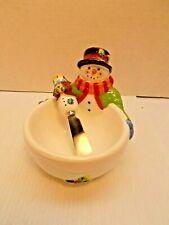 CHRISTMAS DIP BOWL & SPREADER SET BY SUSAN WINGET'S  NEW c