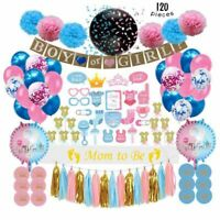 Gender Reveal Party Supplies (120 PCS) by Serene Selection, Baby Shower Deco
