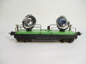 Lionel 2820 Floodlight Car 1940 Cast Lights Prewar O Gauge X4588