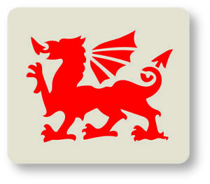 Welsh Rugby Dragon Face Painting Crafting Stencil 7cm x 6cm Reusable - UK Shop