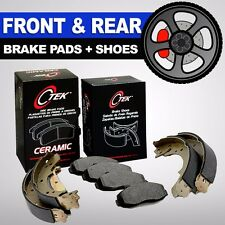 FRONT + REAR Ceramic Brake Pads + Shoes 2 Sets Ford F-150 5 Lug Rear Drums