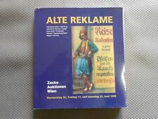 Alte Reklame Autkionskatalog Zacke Auktionen Juni 1999
