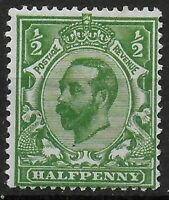SG325. 1/2d.Bright Green. Die B.  Ref 9.53