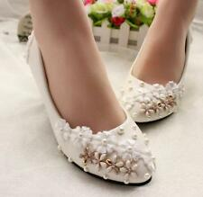 Decolté decolte scarpe donna ballerina bianco oro perle sposa 3.5, 4.5 8 11 9344