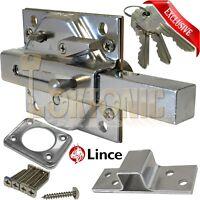 Lince Lock Chrome High Security Heavy Duty Garden Gate Shed Garage Sliding Bolt