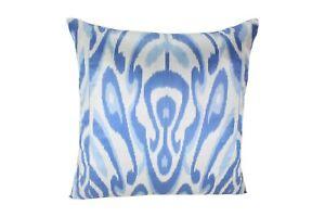 Blue Ikat Pillow, Ikat Pillow Cover IP457, Ikat throw pillows, Designer pillows