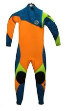 Size 10 Kids Peak Junior Climax Pro 32 Chest Zip Children Steamer Wetsuit Lime