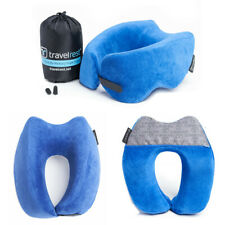 Travelrest Nest Ultimate Travel Pillow Neck Shoulder Support Memory Foam (Blue)