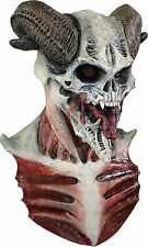 HALLOWEEN ADULT DEVIL SKULL HORN HORROR  PROP  MASK