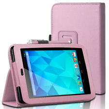 Slim Fit Folio PU Leather Case Smart Cover Stand For Google Nexus 7 Tablet Pink