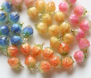 20pcs Color Resin Strawberry Pendant Earrings Necklace Bracelet Accessories