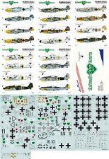 *RARE* AEROMASTER DECALS 1/48 Messerschmitt Bf 109F/G Fw 190A/D JG 54(Luftwaffe)