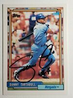 1992 Topps Danny Tartabull Auto Autograph Card Royals White Sox Yankees Signed