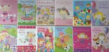 Pack of 12 Assorted Girls Open Birthday Cards