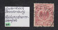 """DR - Stempel K1 """"SADENBECK"""" (Brandenburg) auf 10 Pfg. (Adler) - bitte ansehen !"""