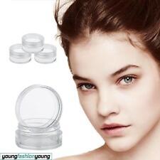 50-70pcs Plastic Pot Clear Empty 5ml Screw Top Nail Art Glitter Samples Craft 1pc