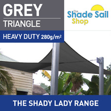 Triangle GREY 3.6 m x 3.6 m x 3.6m Shade Sail Sun Heavy Duty 280GSM Outdoor GREY