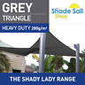 Triangle GREY 5.5 m x 5.5 m x 5.5 m Shade Sail Sun Heavy Duty 280GSM  GREY