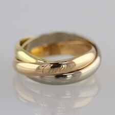 Cartier Trinity Ring 18ct Yellow Gold, 18ct White Gold, 18ct Rose Gold Size O
