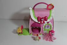 My Little Pony Ponyville Fancy Fashions Boutique w figures cute carry n go house