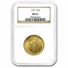 1915 $10 Indian Gold Eagle MS-61 NGC - SKU#15517