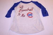 "Women's Chicago Cubs ""Talk Baseball To Me"" M 3/4 Sleeve Semi Shear T-Shirt Tee M"