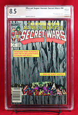 MARVEL HEROES SECRET WARS #4 PGX 8.5 VF+ Very Fine+ SIGNED by STAN LEE!! +CGC!!!