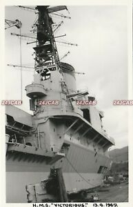 """Photograph Royal Navy. HMS """"Victorious"""" Carrier WW11. Breakup. Fine! 1969"""
