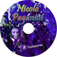 NICOLO PAGANINI GUITAR TAB CD TABLATURE BEST OF GREATEST HITS CLASSICAL MUSIC