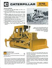 Equipment Brochure - Caterpillar - D7G - Track-type Tractor - c1977 (E4664)