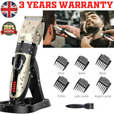 UK Electric Hair Clippers Shaver Cordless Trimmer Cutting For Men Father Kid