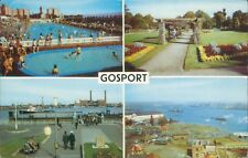 Postcard Hampshire Gosport  Multi View posted 1969