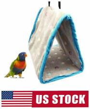 Pet Bird Parrot Hammock Hanging Cave Cage Plush Snuggle Hut Tent Bed Bunk USA