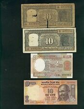 INDIA 4 NOTES: 3 NOTES ARE UNCIRCULATED   ( Stock# 451)