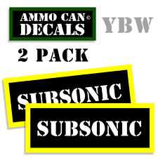 SUBSONIC Ammo Label Decals Box Stickers decals - 2 Pack BLYW