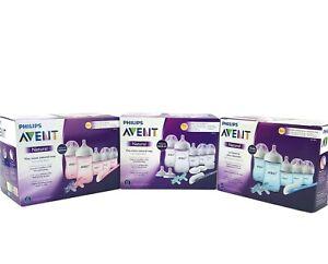 Avent Baby bottle gift set Pink, Blue & Clear Soft nipple - Newborn starterd kit
