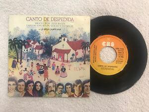 """CANTO DE DESPEDIDA 7"""" MIGUEL BOSE ELSA BAEZA KYRIE ANA BELEN 1979 CBS SINGLE"""