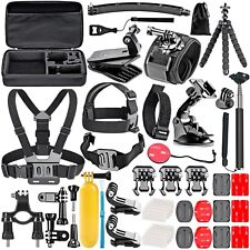 Neewer 50 en 1 Kit de Accesorios para GoPro Hero 6 5 4 3+ 3 2 1 Hero Session 5 Negro