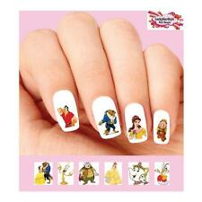 Waterslide Nail Decals Set of 20 - Beauty and the Beast, Belle, Lumiére Assorted
