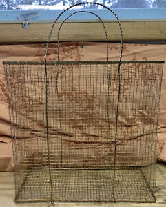 Large Wire Mesh Gold Purse/Gift Bag Style Basket / Planter