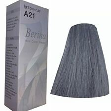Berina A21 Color Light Grey Silver Permanent Hair Dye Color Cream New FASHIONS