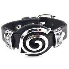 Anime Naruto Uchiha Leaf Bracelet Leather Wristband Uzumaki Cosplay Kunai Gift