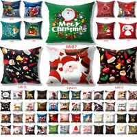 Promotions!! Merry Christmas Pillow Case Sofa Throw Cushion Cover Home Decor 18""