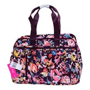 Vera Bradley INDIANA BLOSSOMS Lighten Up Weekender Travel Bag XL Floral NWT