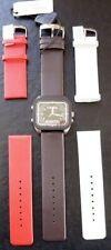 D&g Horaire DW0299 Montre Watch Homme + 3 Courroies Morellato Cadeau Cuir