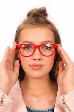Vintage retro red clear lens summer sunglasses / geek specs UNISEX