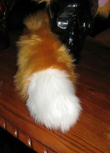 Animal Crossing Red, Gold luxury shag faux fur ears tails, 2 styles & 2 sizes
