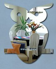 Cute OWL Shaped Mirror 22 x 23cm Safe Shatterproof Silver Mirror Acrylic NEW