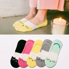 5Paars Damen Füßlinge Socken Rutschfeste Ballerina Socken Kurzsocken . Neue