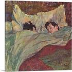 ARTCANVAS In Bed 1893 Canvas Art Print by Henri De Toulouse-Lautrec